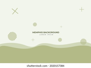 Abstract Modern Background with Memphis Element.