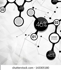 abstract modern background  for options, can be used for website, info-graphics, banner/ vector bubble