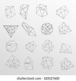 Abstract modern background with polygon