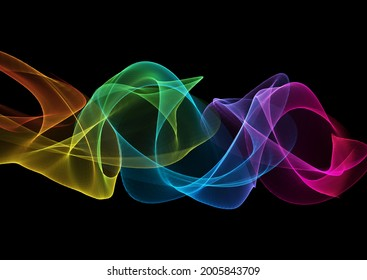 Abstract modern background with rainbow flowing waves design
