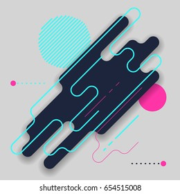 Abstract modern background with rounded corners
