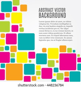 Abstract modern background with squares and copy space