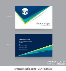 Abstract modern Blue Green Business card Design Template