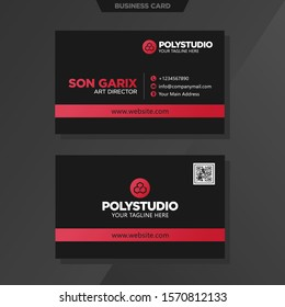 Abstract modern business card template design Name Card