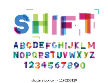 abstract modern color font