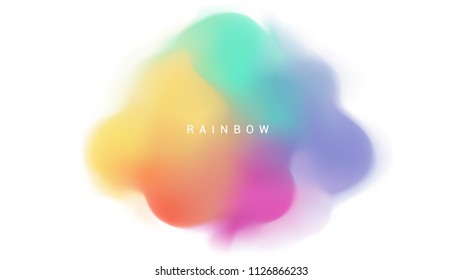 Abstract modern color gradient shape background vector