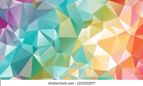 Abstract Modern Colorful Geometrical Triangle Vector Background.