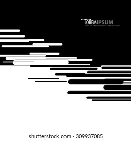 Abstract Modern Design Black and White Background