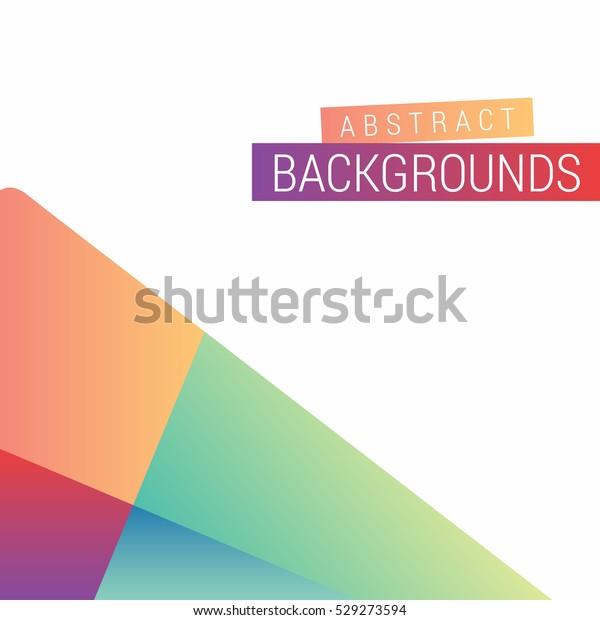 Abstract Modern Design Play Google Style Stock Vector