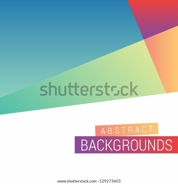 Abstract Modern Design Play Google Style Stock Vector (Royalty Free