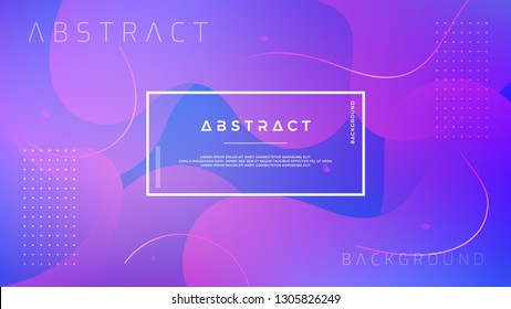 Abstract, modern, dynamic, trendy gradient background. Blue purple vector background.