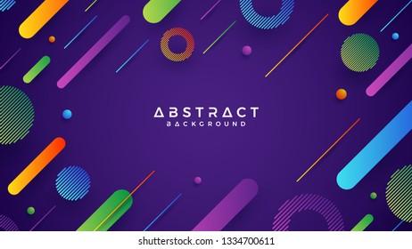 Abstract, modern, dynamic, trendy gradient background. Eps10 vector illustration. Blue, green, orange, purple background