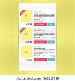 Abstract modern flat infographics options banner for online shop. The vector illustration for ui, web games, tablets, wallpapers, and patterns.