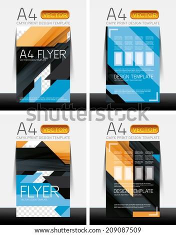 abstract modern flyer brochure design templates stock vector
