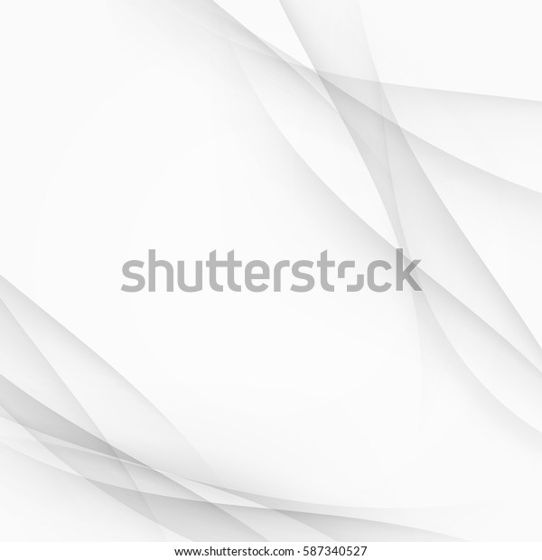 Abstract modern futuristic hi-tech background with halftone speed swoosh grey transparent wave lines. Vector illustration