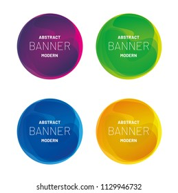 Abstract modern geometric banner collection. Vector design for business presentations, flyers, posters