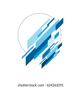 Abstract modern geometric isometric, design element can be used for background, wallpaper, poster, book cover backdrop, brochure, leaflet, vector illustration