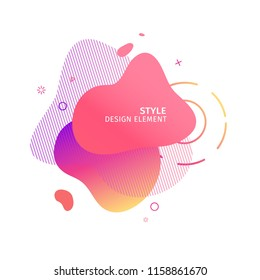 Abstract modern graphic elements. Dynamical pink color  form and line. Gradient abstract banner with plastic liquid shapes. Template for the design of a logo, flyer or presentation. Vector.