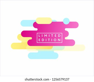 Abstract modern graphic elements. Dynamical colored forms and line. Gradient abstract banners with flowing liquid shapes. Template for the design of a logo, flyer or presentation.