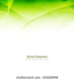 Abstract modern green wave background