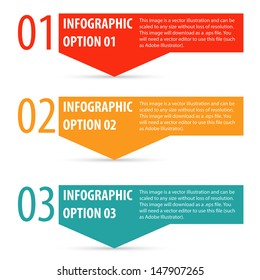 Abstract modern infographics options banner. Vector illustration.