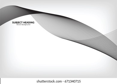 Abstract Modern Line, Grey Line, Subject Heading Text Area