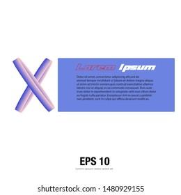 Abstract modern line X logo letter design concept. Vector illustration.