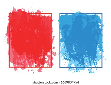 Abstract modern paint brush frame background.