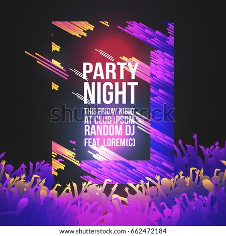 Abstract Modern Party Flyer Vector Illustration Stock Vector ...