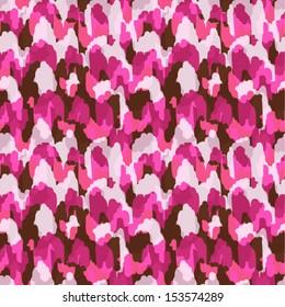Abstract modern pink animal seamless fabric pattern