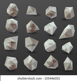Abstract modern  polygonal bubble, label website header or banner, can be used for website, info-graphics