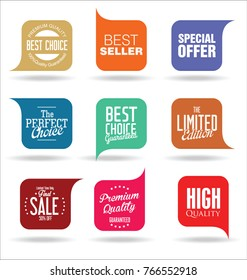 Abstract modern sale vector badges collection