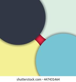 Abstract modern shape circles material design.vector illustration.
