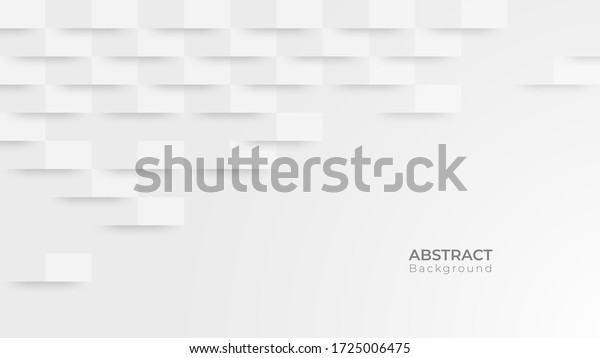 Abstract modern square background. White and grey geometric texture. vector illustration