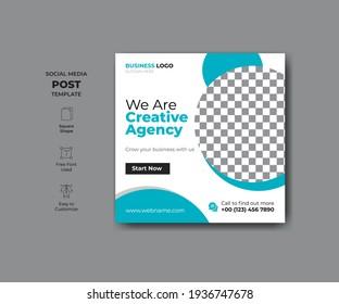 Abstract modern style social media banner design. Promotional web banner for social media.