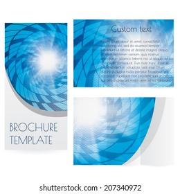 Abstract modern technology brochure template background