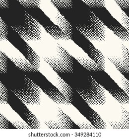 Abstract modern twisted houndstooth check seamless pattern.