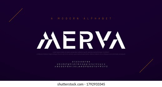 Abstract modern urban alphabet fonts. Typography sport, simple, technology, fashion, digital, future creative logo font. vector illustration
