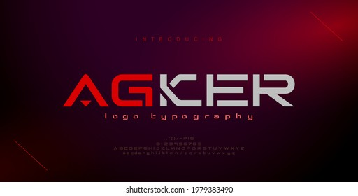 Abstract modern urban alphabet fonts. Typography sport, game, technology, fashion, digital, future creative logo font. vector illustration