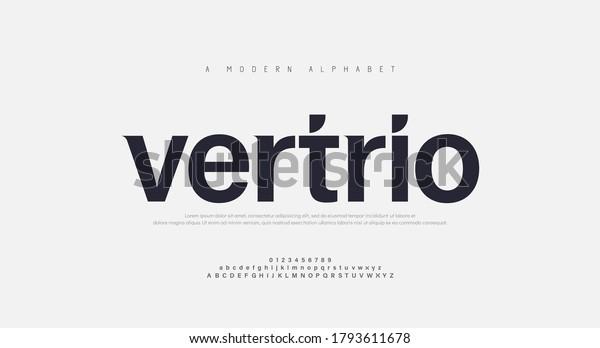 Abstract modern urban alphabet fonts. Typography sport, technology, fashion, digital, future creative logo font. vector illustration
