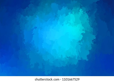 Abstract modern vector background, horizontal format. Digitally generated contemporary wallpaper. Vibrant blue backdrop.
