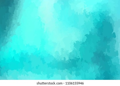Abstract modern vector background, horizontal format. Digitally generated contemporary wallpaper. Vibrant teal blue backdrop.