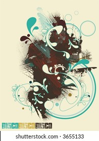 abstract modern vector illustration,design for party flyers or t shirts,  music events, just add your text