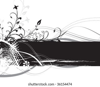 abstract modern vector illustration,floral elements with retro shapes vector