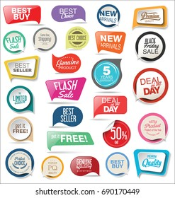Abstract modern vector sticker collection