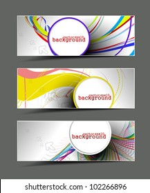 abstract modern website banner set vector design