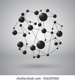 Abstract molecular connection. Vector illustration.