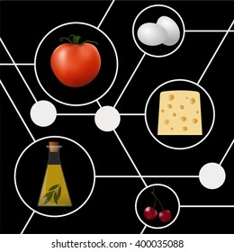 Abstract molecular gastronomy concept illustration. Structure.
