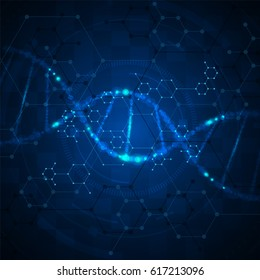 abstract molecular nano concept scientific tech innovation background