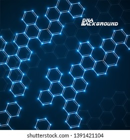 Abstract molecular structures. Technology background